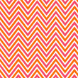 Bright chevron red, orange and white, vector pattern. - Stockfoto