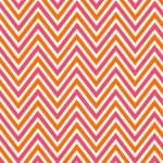 Bright chevron red, orange and white, vector pattern. — Stock Photo