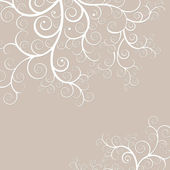 Elegant and delicate black background with golden swirls — 图库照片