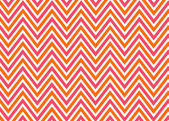 Bright chevron red, orange and white, vector pattern. — 图库照片