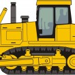 Stock Vector: Construction bulldozer