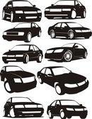 Set car silhouette — Stock Vector