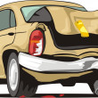 Car with crashed back - Stock Vector