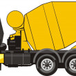 Mobile mixer for concrete - Stock Vector