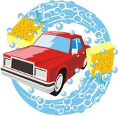 Car washing sign — Stock Vector