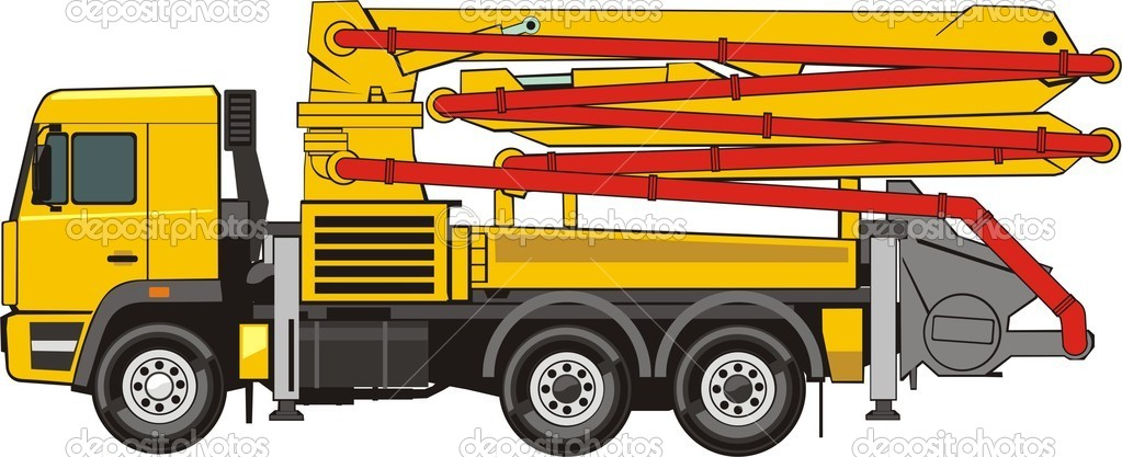 Mobile concrete pump — Stock Vector © kokandr #7596732Mobile concrete pump — Stock Vector #7596732