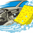 Car indoor clean — Wektor stockowy #7627254