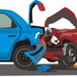 Stock Vector: Car collision
