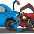 Car collision — Stock Vector