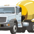 Concrete mixer - Stock Vector