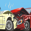 Frontal car collision - Stock Vector