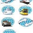 Royalty-Free Stock Vector Image: Toursm icon set