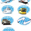 Toursm icon set - Stock Vector