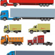Trailer set - Stock Vector