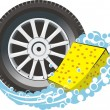 Stock Vector: Wheel wash