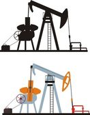 Oil pumping — Stock Vector