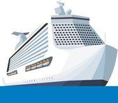 Tourist ship — Stock Vector