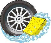 Wheel wash — Stock Vector