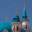 Stock Photo: Minarets of mosque in KazKremlin