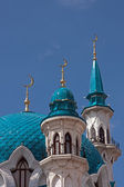 Minarets of the mosque in Kazan Kremlin — Stock Photo