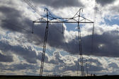 Electric powerlines — Stock Photo
