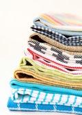 Montón de toallas de lino — Foto de Stock