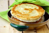 Homemade bread fried in a pan — Stock Photo