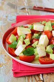 Salad with cheese camembert and tomato — Stock Photo
