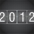 Royalty-Free Stock Photo: Editable 2012 new year on mechanical scoreboard