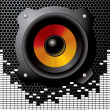 Stock Photo: Vector audio speaker