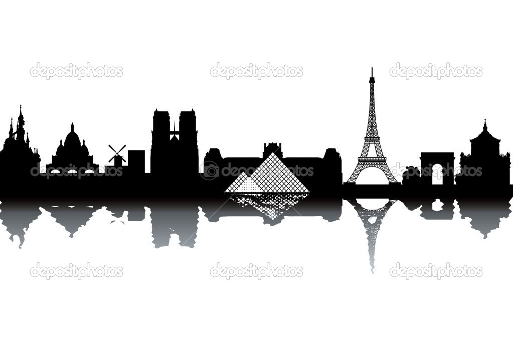 Paris skyline illustration — Stock Photo © lajo_2 #7197014