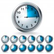 Set of vector timers — Stock Vector