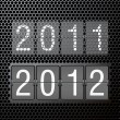 2012 new year on mechanical scoreboard — Stock Vector