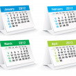2012 desk calendar — Stock Vector