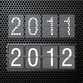 2012 new year on mechanical scoreboard — Vettoriale Stock
