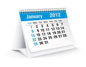 January 2012 desk calendar — Stock Vector
