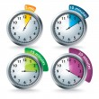 Set of vector timers — Foto de Stock