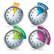 Stock Photo: Set of vector timers
