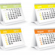 2012 desk calendar — Stock Photo