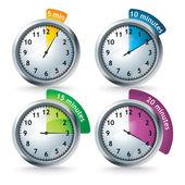 Sada vektorové časovače — Stock fotografie