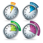 Set of vector timers — Stock Photo