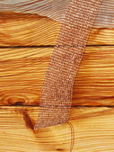 Fabric over wooden surface — Stock Photo