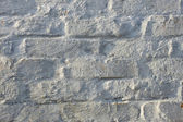 Lime painted brick wall — Stock Photo