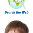 Young head looking at internet type of icons — Stock Photo #6852952
