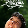 Foto de Stock  : Young head looking at social type of icons and signs
