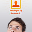 Young head looking at labor type of icons — Stock Photo #6856493