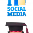 Young head looking at social type of icons and signs — Stock Photo #6858631