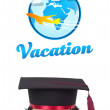 Young head looking at vacation type of sign — Stock Photo #6858701