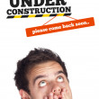 Young head looking at contruction icons — Stock Photo #6859562