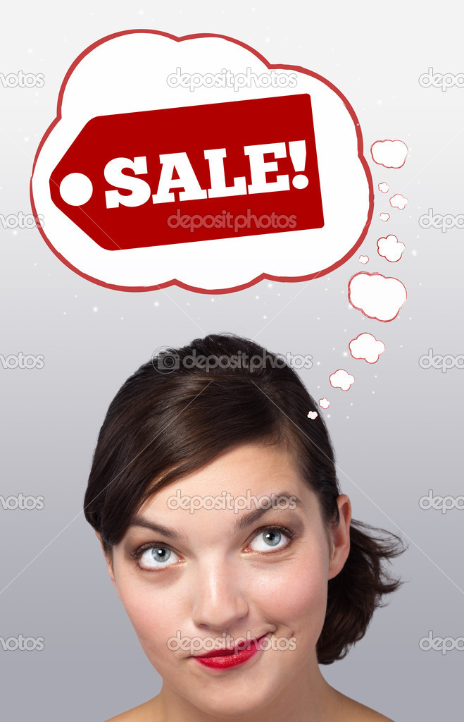 Young persons head looking with gesture at shipping and order signs  Stock Photo #6853386